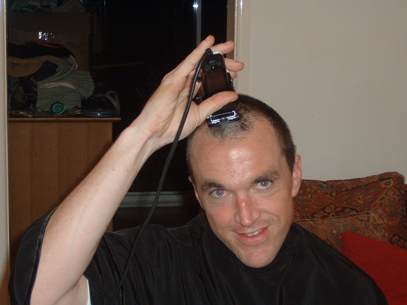 Mike_ShavingBefore1stCourseOfChemo_May2004.jpg